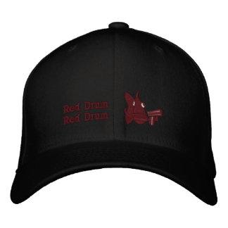 Tambour rouge - casquette brodé