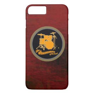 tambour rouge de jaune d'arrière - plan coque iPhone 7 plus