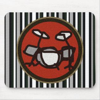 tambours, batteur tapis de souris
