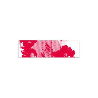 "Tampon Auto-encreur 1.4"" x 0.4"" Stamp Roses"