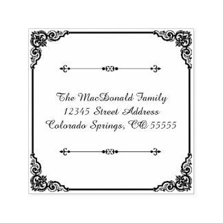 Tampon Auto-encreur Flourish carré - Auto-Encrage du timbre d'adresse