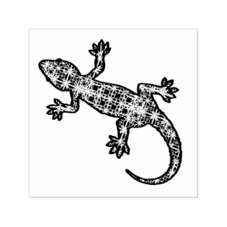 Tampon Auto-encreur Gecko tribal/lézard de batik