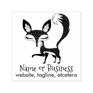 Tampon Auto-encreur Le Fox de Lil a personnalisé l'individu des textes