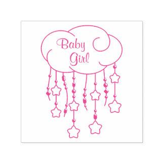 Tampon Auto-encreur Le nuage perle le bébé de mobile d'étoiles