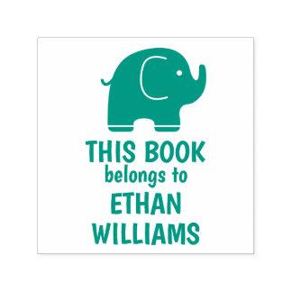 Tampon Auto-encreur Le timbre vert d'éléphant ce livre appartient à