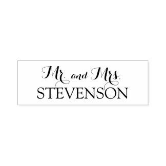 Tampon Auto-encreur M. et Mme faits sur commande Wedding Stamper