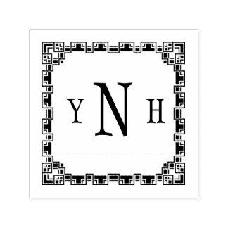 Tampon Auto-encreur Personalizable avec le monogramme de trois-lettre