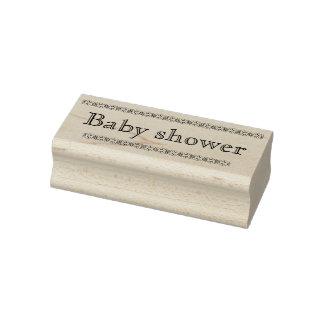 Tampon en caoutchouc de baby shower