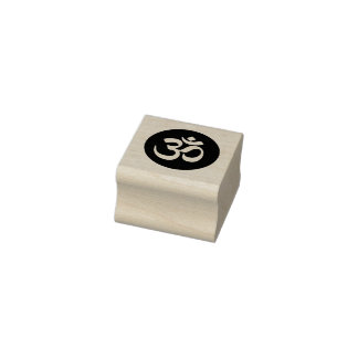 Tampon en caoutchouc de cercle de symbole de l'OM