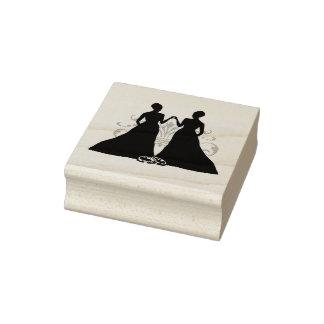 Tampon en caoutchouc de jeunes mariées du mariage