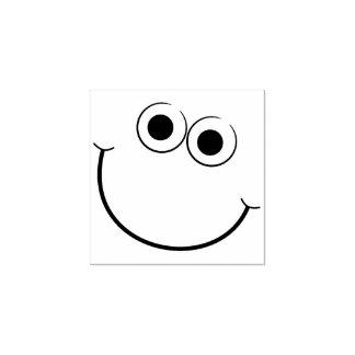 Tampon en caoutchouc de sourire heureux de visage