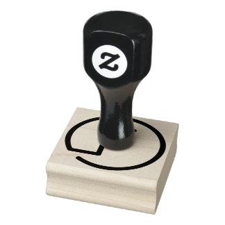 Tampon en caoutchouc en bois de monogramme de F