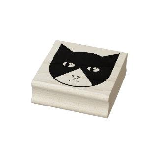 Tampon en caoutchouc mignon de chat de vampire de