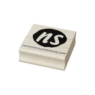 Tampons en caoutchouc du site Web | d'initiales de