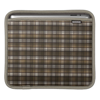 Tan & Bruine Plaid iPad Beschermhoes
