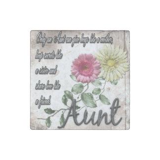 Tante Poem Magnet avec des fleurs