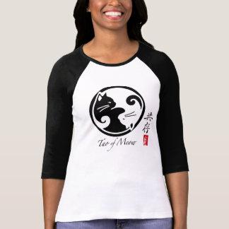 Tao du T-shirt raglan des femmes de Meow