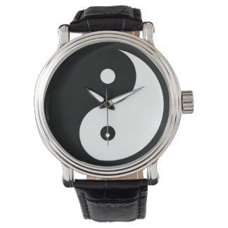 taoist noir/blanc de yin-Yang Montres Bracelet