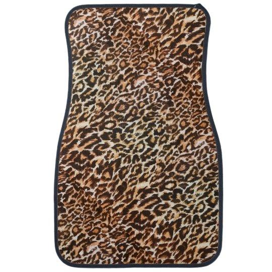 tapis animaux de voiture de motif de l opard tapis de sol zazzle. Black Bedroom Furniture Sets. Home Design Ideas