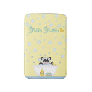 Panda Bubble Bath Time Nursery Yellow Baby Blue