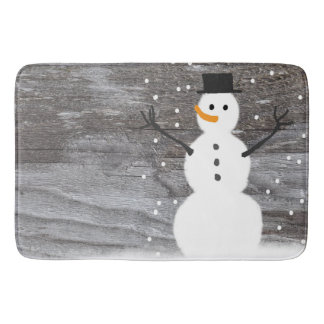 Tapis De Bain Bonhomme de neige rustique de Noël de tapis de