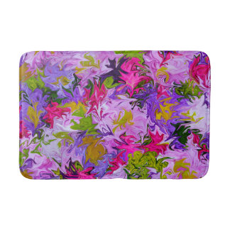 Tapis De Bain Bouquet de conception florale d'art abstrait de
