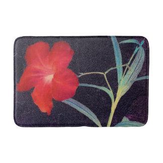 Tapis De Bain Brise rouge rustique de fleur