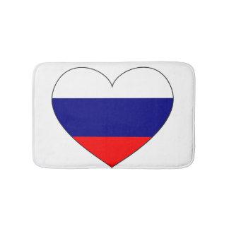 Tapis De Bain Coeur de drapeau de la Russie