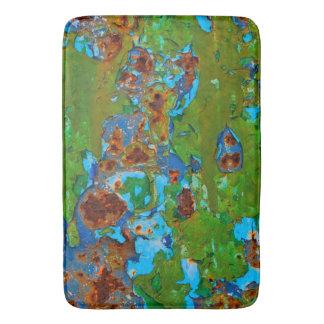 Tapis De Bain Cru grunge en métal de peinture rustique