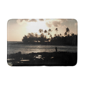 Tapis de bain de coucher du soleil de Kauai