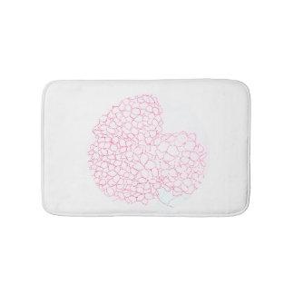 Tapis de bain de fleur d'hortensia