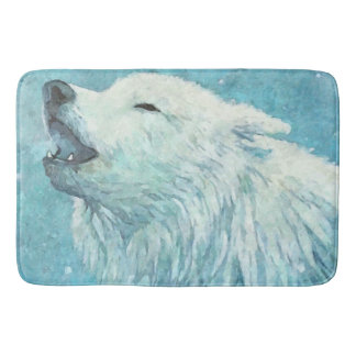 Tapis de bain de loup d'hiver grand