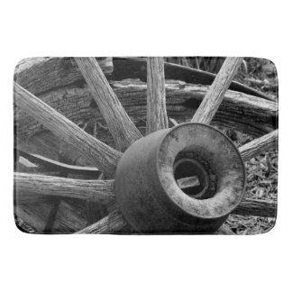 Tapis De Bain Douche de roues/tapis de bain rustiques noirs et