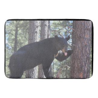 Tapis de bain d'ours noir