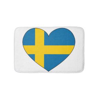Tapis De Bain Drapeau de la Suède simple