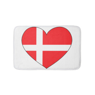 Tapis De Bain Drapeau du Danemark simple