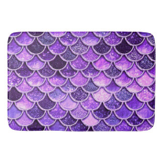 Tapis De Bain Échelles ultra-violettes de sirène de parties