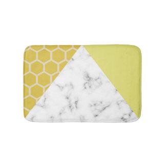 Tapis De Bain Effet de nid d'abeilles et de marbre : Tapis de