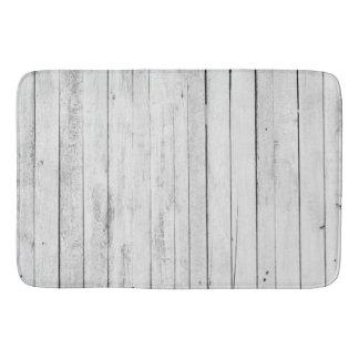 Tapis De Bain Ferme en bois noire et blanche rustique de panneau