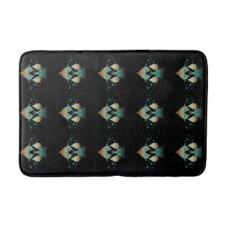 Tapis De Bain Formes géométriques en pastel sur le noir