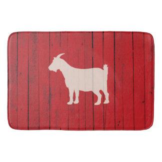 Tapis De Bain Grange en bois rouge de panneau de chèvre rustique