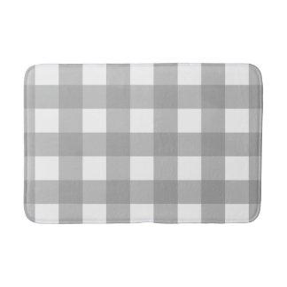 Tapis de bain gris et blanc de contrôle de Buffalo