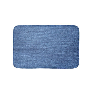 Tapis De Bain Image blanche bleue de regard de texture de denim