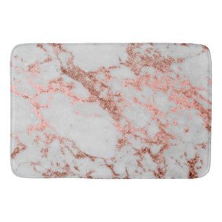 Tapis De Bain Image rose de texture de marbre de scintillement