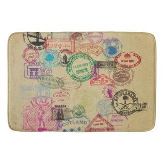 Tapis De Bain Le passeport vintage emboutit le grand tapis de