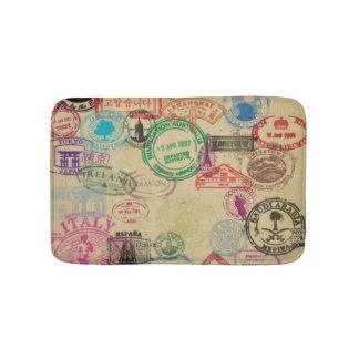 Tapis De Bain Le passeport vintage emboutit le petit tapis de