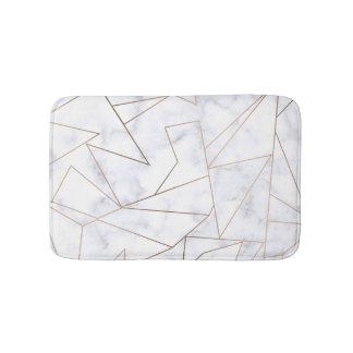 Tapis De Bain marbre blanc géométrique d'or rose moderne élégant
