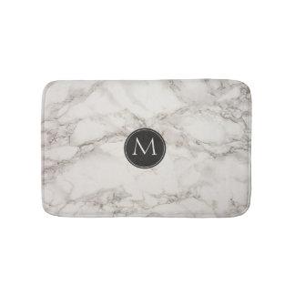 Tapis De Bain Monogramme de marbre élégant de conception