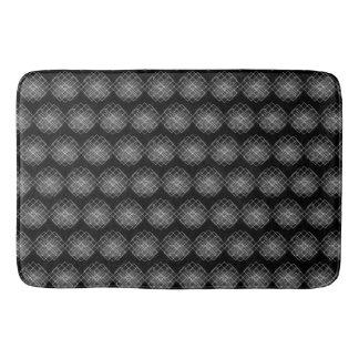Tapis De Bain Motif géométrique noir et blanc