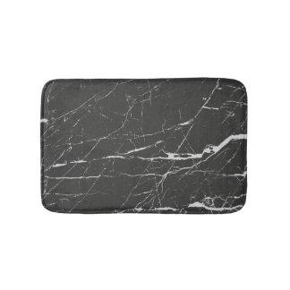 Tapis De Bain Pierre noire et grise de marbre de grain